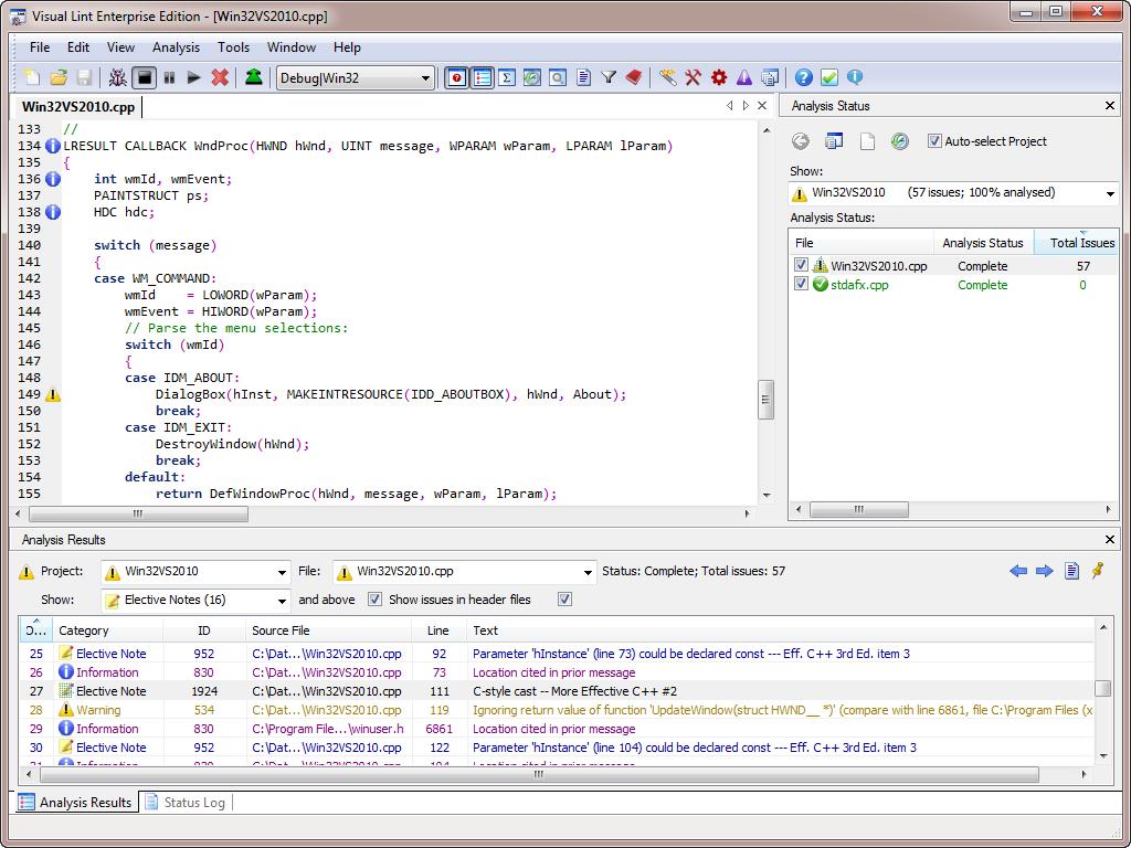 VisualLintGui - the standalone Visual Lint application
