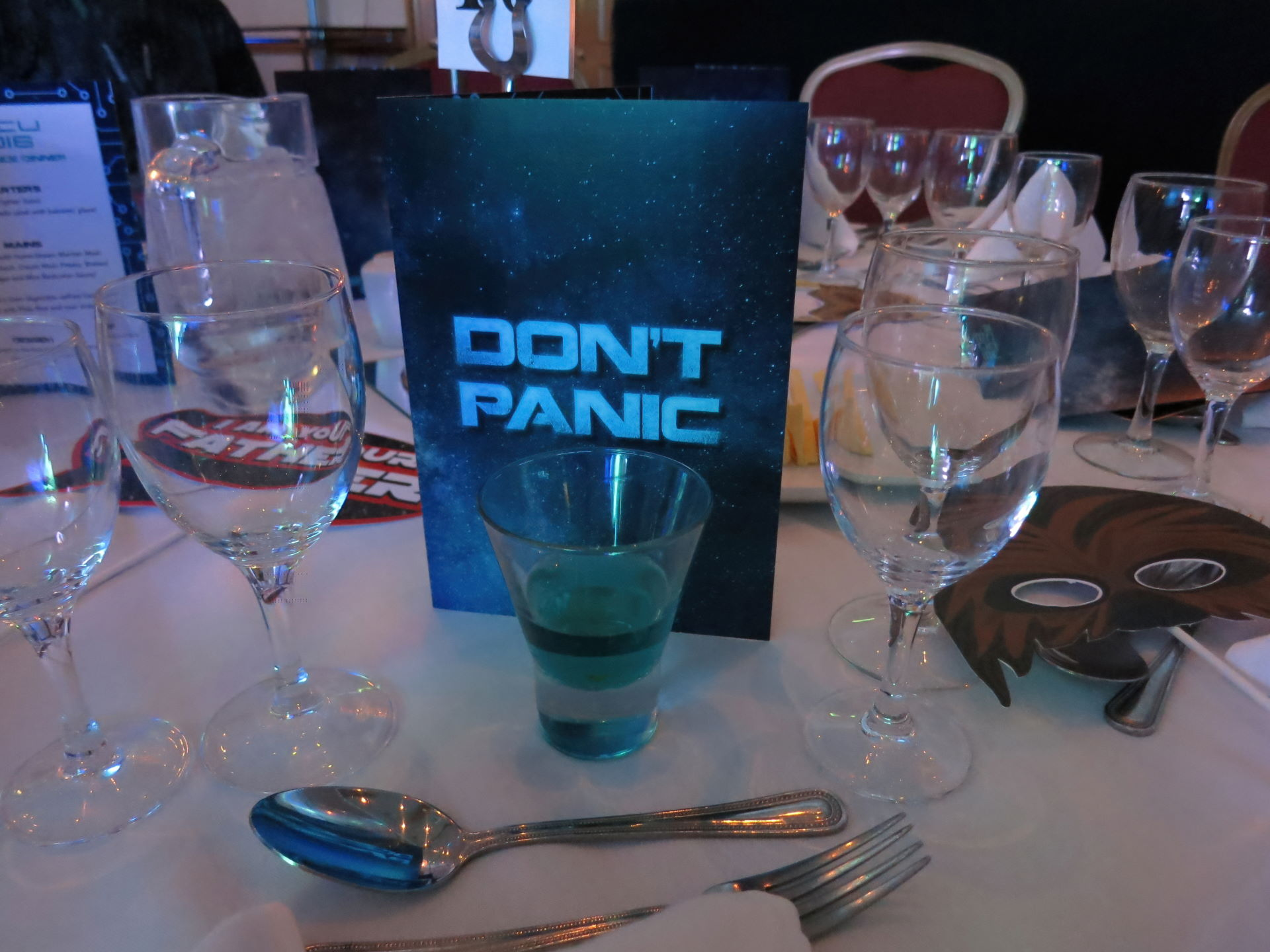 Don't panic - it's just the conference dinner!