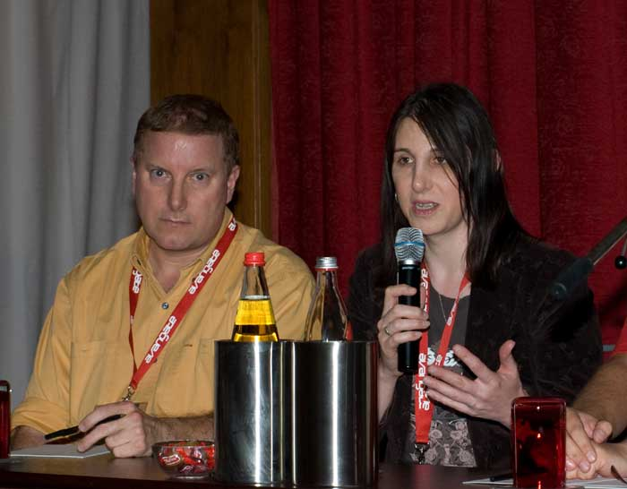 Me in full flow on one of the discussion panels. Bob Walsh of 47hats.com is on the left