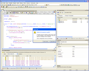 One of the new Task Dialogs within Visual Lint, shown here running under Windows XP
