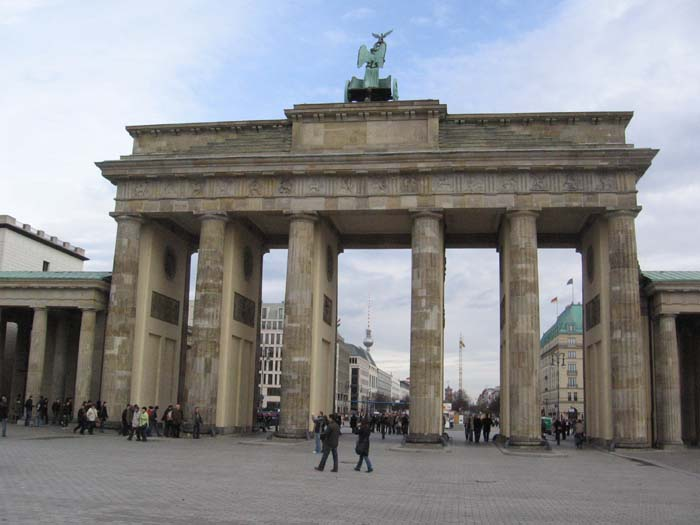 The Brandenburg Gate, viewed from the west