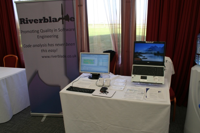 Our stand at ACCU this year. The observant may notice the space invaders keyboard and mouse...