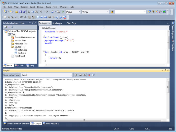 Visual Studio 2010 looks rather different to its predecessors