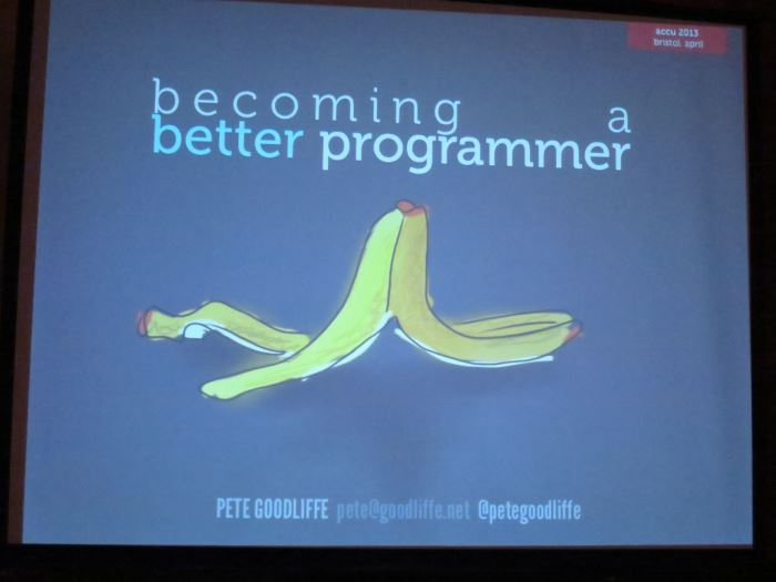 Pete Goodliffe's 'Becoming a Better Programmer' session