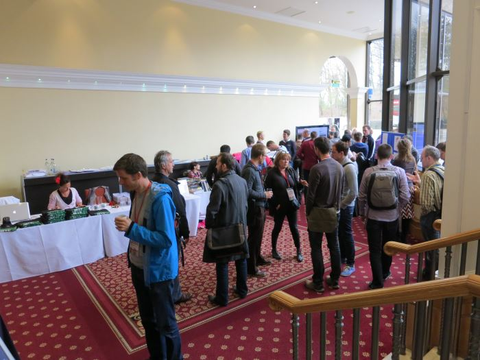 The ACCU 2013 foyer and registration desk