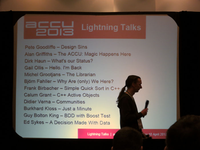ACCU 2013 Lightning Talks