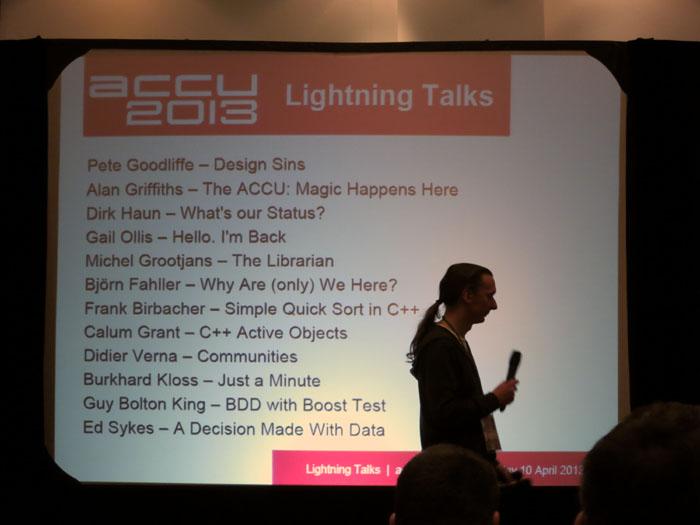 ACCU 2013 Lightning Talks