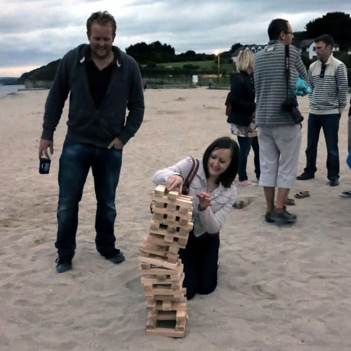 Jenga on the Beach