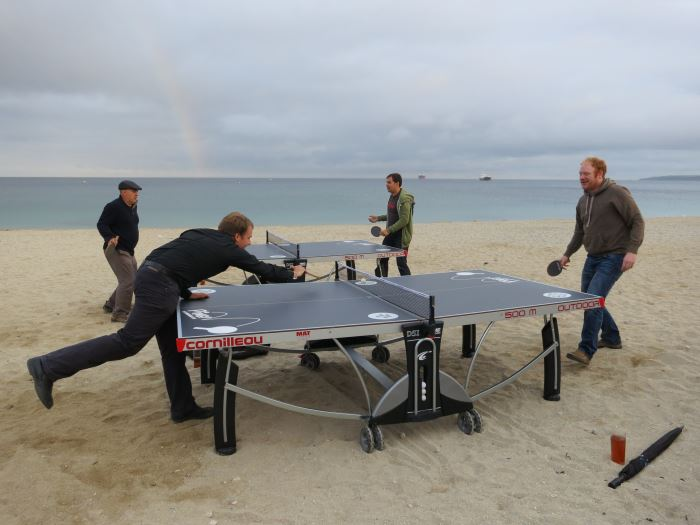 Ping Pong on the Beach