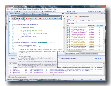 Visual Lint offers close integration within the Visual Studio and Eclipse development environments