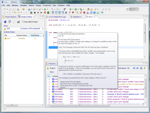 A typical Visual Lint configuration running within Eclipse